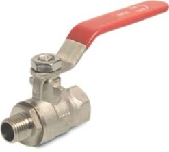 Brass Lever Ball Valve, Female BSP Thread x Male BSP Thread upto 25-bar pressure