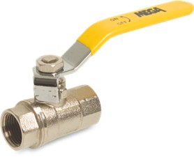 Brass Lever Ball Valve, Long Female BSP Thread upto 40-bar